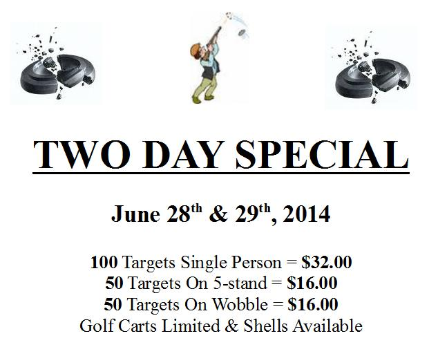 June 2 day special