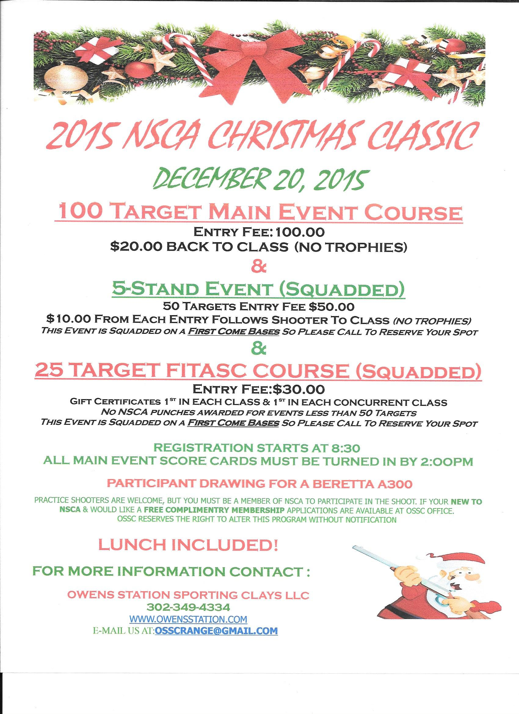 Christmas Classic   Owens Station Sporting Clays